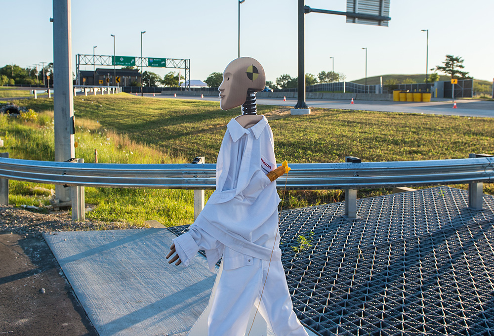 robot pedestrian at M city test facility