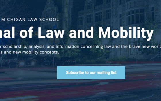 Mcity,  U-M Law School co-launch digital legal journal focused on mobility